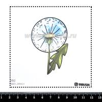 Шаблон для броши Одуванчик 1160 фетр Корея Премиум, толщина 1,25 мм, размер 10*10 см 064592 - 99 бусин