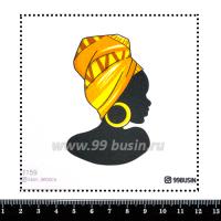 Шаблон для броши Африканка 1159 фетр Корея Премиум, толщина 1,25 мм, размер 10*10 см 064593 - 99 бусин