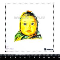Шаблон для броши Алёнка 1177 фетр Корея Премиум, толщина 1,25 мм, размер 10*10 см 064596 - 99 бусин