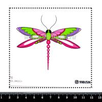 Шаблон для броши Стрекоза 1176 фетр Корея Премиум, толщина 1,25 мм, размер 10*10 см 064597 - 99 бусин