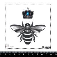Шаблон для броши Шмель и корона 1165 фетр Корея Премиум, толщина 1,25 мм, размер 10*10 см 064598 - 99 бусин