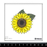Шаблон для броши Подсолнух 1170 фетр Корея Премиум, толщина 1,25 мм, размер 10*10 см 064602 - 99 бусин