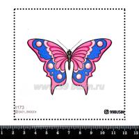 Шаблон для броши Бабочка 1173 фетр Корея Премиум, толщина 1,25 мм, размер 10*10 см 064606 - 99 бусин