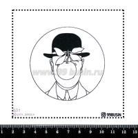 Шаблон для броши Сын человеческий 501 фетр Корея Премиум, толщина 1,25 мм, размер 10*10 см 064614 - 99 бусин