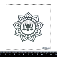 Шаблон для броши Лолос 516 фетр Корея Премиум, толщина 1,25 мм, размер 10*10 см 064616 - 99 бусин