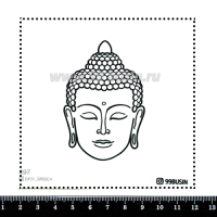 Шаблон для броши Будда 497 фетр Корея Премиум, толщина 1,25 мм, размер 10*10 см 064617 - 99 бусин