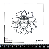 Шаблон для броши Будда 496 фетр Корея Премиум, толщина 1,25 мм, размер 10*10 см 064618 - 99 бусин