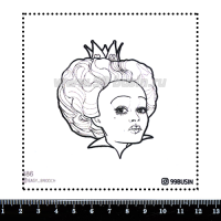 Шаблон для броши Королева 486 фетр Корея Премиум, толщина 1,25 мм, размер 10*10 см 064620 - 99 бусин