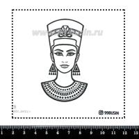 Шаблон для броши Нефертити 478 фетр Корея Премиум, толщина 1,25 мм, размер 10*10 см 064622 - 99 бусин