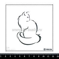 Шаблон для броши Кошка 224 фетр Корея Премиум, толщина 1,25 мм, размер 10*10 см 064623 - 99 бусин