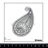 Шаблон для броши Пейсли 336 фетр Корея Премиум, толщина 1,25 мм, размер 10*10 см 064624 - 99 бусин