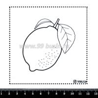 Шаблон для броши Лимончик 333 фетр Корея Премиум, толщина 1,25 мм, размер 10*10 см 064625 - 99 бусин