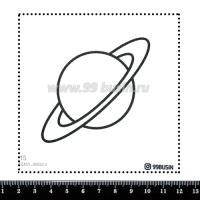 Шаблон для броши Марс 315 фетр Корея Премиум, толщина 1,25 мм, размер 10*10 см 064630 - 99 бусин