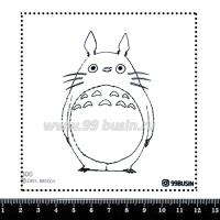 Шаблон для броши Тоторо 300 фетр Корея Премиум, толщина 1,25 мм, размер 10*10 см 064632 - 99 бусин