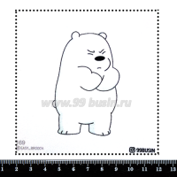 Шаблон для броши Белый 169 фетр Корея Премиум, толщина 1,25 мм, размер 10*10 см 064635 - 99 бусин