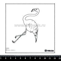 Шаблон для броши Фламинго 269 фетр Корея Премиум, толщина 1,25 мм, размер 10*10 см 064639 - 99 бусин