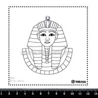 Шаблон для броши Фараон 308 фетр Корея Премиум, толщина 1,25 мм, размер 10*10 см 064646 - 99 бусин