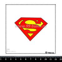 Шаблон для броши Супермен 290 фетр Корея Премиум, толщина 1,25 мм, размер 10*10 см 064649 - 99 бусин