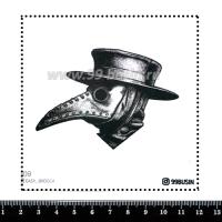 Шаблон для броши Чумной доктор 609 фетр Корея Премиум, толщина 1,25 мм, размер 10*10 см 064656 - 99 бусин