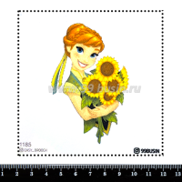 Шаблон для броши Анна 1185 фетр Корея Премиум, толщина 1,25 мм, размер 10*10 см 064659 - 99 бусин