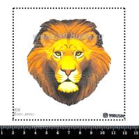 Шаблон для броши Лев 008 фетр Корея Премиум, толщина 1,25 мм, размер 10*10 см 064661 - 99 бусин