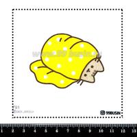 Шаблон для броши Котик в одеялке 791 фетр Корея Премиум, толщина 1,25 мм, размер 10*10 см 064666 - 99 бусин