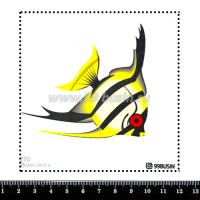 Шаблон для броши Рыбка 270 фетр Корея Премиум, толщина 1,25 мм, размер 10*10 см 064670 - 99 бусин