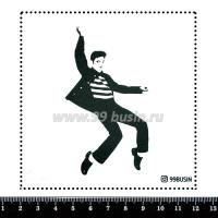 Шаблон для броши Элвис 506 фетр Корея Премиум, толщина 1,25 мм, размер 10*10 см 064679 - 99 бусин