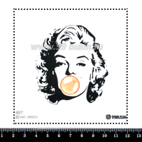 Шаблон для броши Мэрлин 487 фетр Корея Премиум, толщина 1,25 мм, размер 10*10 см 064682 - 99 бусин