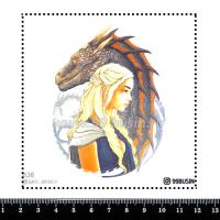 Шаблон для броши Дейнерис 838 фетр Корея Премиум, толщина 1,25 мм, размер 10*10 см 064685 - 99 бусин