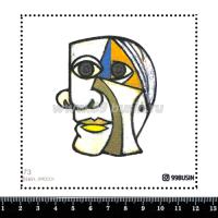 Шаблон для броши Пабло 473 фетр Корея Премиум, толщина 1,25 мм, размер 10*10 см 064686 - 99 бусин