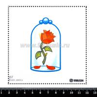 Шаблон для броши Роза в колбе 357 фетр Корея Премиум, толщина 1,25 мм, размер 10*10 см 064687 - 99 бусин
