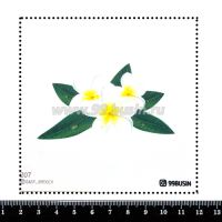 Шаблон для броши Плюмерия 207 фетр Корея Премиум, толщина 1,25 мм, размер 10*10 см 064688 - 99 бусин