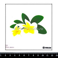 Шаблон для броши Плюмерия 031 фетр Корея Премиум, толщина 1,25 мм, размер 10*10 см 064689 - 99 бусин