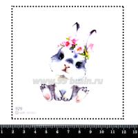 Шаблон для броши Зайка 929 фетр Корея Премиум, толщина 1,25 мм, размер 10*10 см 064692 - 99 бусин
