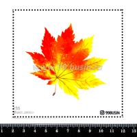 Шаблон для броши Кленовый лист 155 фетр Корея Премиум, толщина 1,25 мм, размер 10*10 см 064693 - 99 бусин