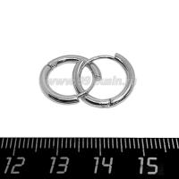 Швензы Премиум кольца,16 мм диаметр, 2 мм толщина, родированные 1 пара 064701 - 99 бусин