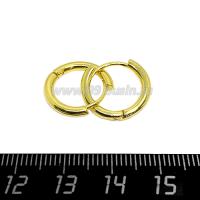 Швензы Премиум кольца,16 мм диаметр, 2 мм толщина, цвет золото, 1 пара 064702 - 99 бусин