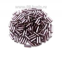 Стеклярус гладкий 7 мм Чехия Preciosa фиолетовый огонёк 27010 упаковка 10 грамм 07R27010 - 99 бусин