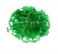 Стеклярус гладкий 7 мм Чехия Preciosa прозрачный зелёный 50100 упаковка 10 грамм 07R50100 - 99 бусин