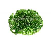 Стеклярус 7 мм гладкий Чехия Preciosa зеленый огонек 57430 упаковка 10 грамм 07R57430 - 99 бусин