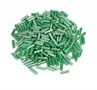 Стеклярус 7 мм Чехия Preciosa перламутровый зеленый 58250 упаковка 10 грамм 07R58250 - 99 бусин
