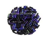 Стеклярус 7 мм Чехия Preciosa гладкий цвет 59135 фиолетово-синий ирис упаковка 10 грамм 07R59135 - 99 бусин