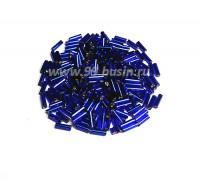 Стеклярус PRECIOSA 7 мм витой 67300, синий огонёк 10 граммов, Чехия 07R67300 - 99 бусин