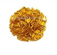 Стеклярус 7 мм гладкий Чехия Preciosa рыжий огонек 87060 упаковка 10 грамм 07R87060 - 99 бусин
