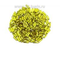 Стеклярус 7 мм витой Чехия Preciosa желтый огонек 87070 упаковка 10 грамм 07R87070V - 99 бусин