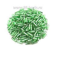 Стеклярус PRECIOSA 7 мм витой, цвет 57100 зеленый огонёк, упак. 10 грамм Чехия 07S57100 - 99 бусин