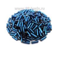 Стеклярус 7 мм гладкий Чехия Preciosa тёмно-синий огонек 67100 упаковка 10 грамм 07S67100 - 99 бусин