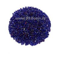 Рубка PRECIOSA граненая, размер 9/0 (2 мм) арт. 00008 темно-синий, розовое отверстие, упаковка 10 грамм, Чехия 09R00008 - 99 бусин