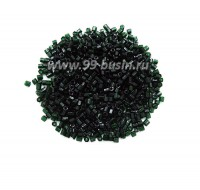 Рубка PRECIOSA размер 9/0 (2 мм) арт. 50150 тёмно-зелёный прозрачный, упаковка 10 грамм Чехия 09R50150 - 99 бусин